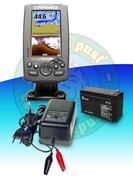 Lowrance Echolot Hook-4 CHIRP GPS + baterie + nabíječka ZDARMA