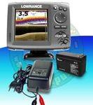 Lowrance Echolot Hook-5X + baterie a nabíječka ZDARMA