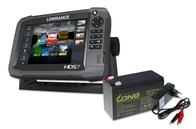 Lowrance Echolot HDS-7 Gen3 + sonda TotalScan + baterie + nabíječka ZDARMA