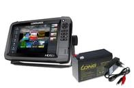 Lowrance Echolot HDS-9 Gen3 + sonda TotalScan + baterie + nabíječka ZDARMA