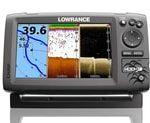 Lowrance Echolot Hook-7 + sonda HDI 83/200 455/800 kHz GPS + baterie + nabíječka ZDARMA