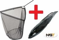 NGT Podběrák 2m Carp Net 42 with Handle + Obal Zdarma!