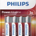 Philips Baterie Powerlife tužková LR6 AA 4ks